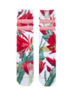 XPOOOS XPOOOS CHAUSSETTE FLEURS ROUGE