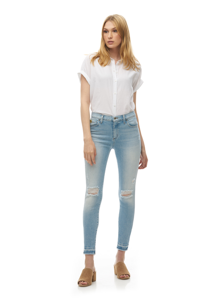 YOGA JEANS YOGA JEANS CLASSIC RISE ANKLE SKINNY THE PIER