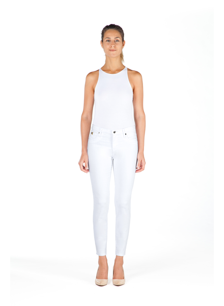YOGA JEANS JEANS SKIN ANKLE  BLANC  32