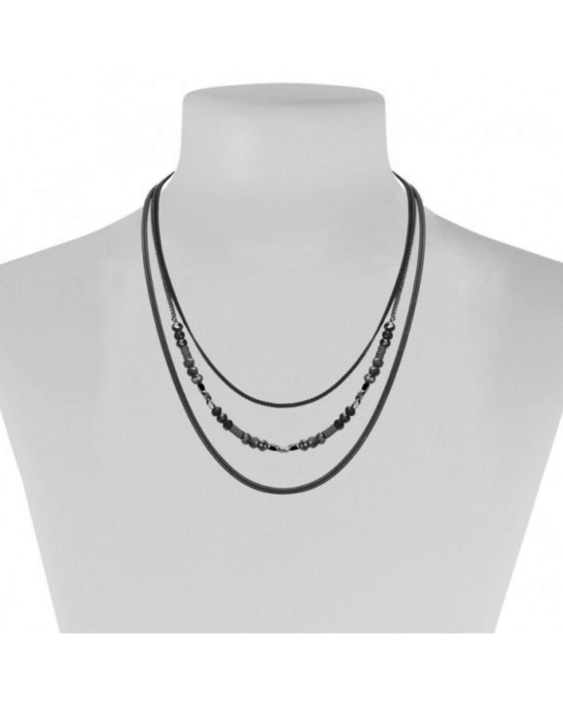 CARACOL CARACOL COLLIER 3 RANGS GRIS