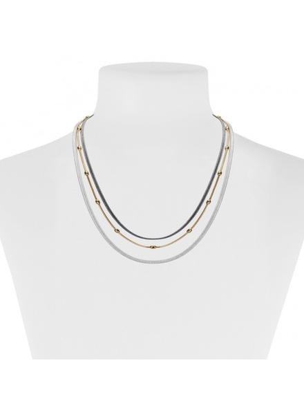 CARACOL CARACOL COLLIER COURT 3 RANGS MIX