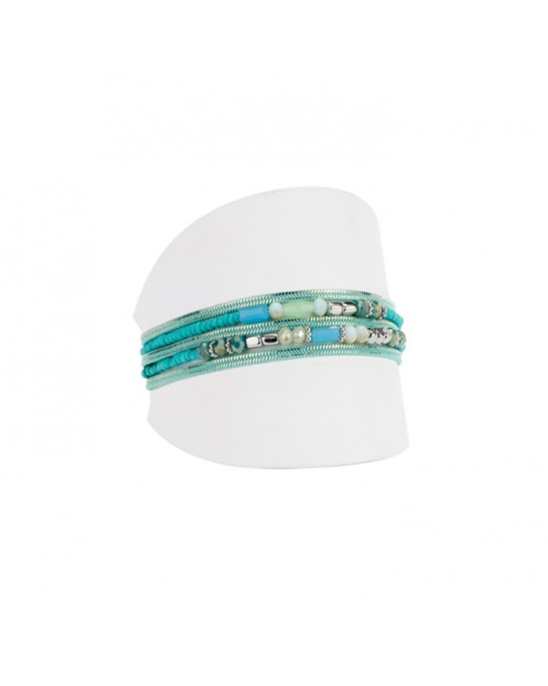 CARACOL CARACOL BRACELETS 5 RANGS TURQUOISE