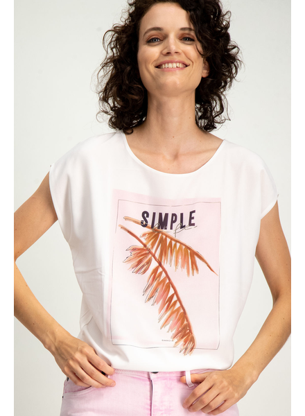 GARCIA GARCIA T-SHIRT SIMPLE LIFE OFF WHITE