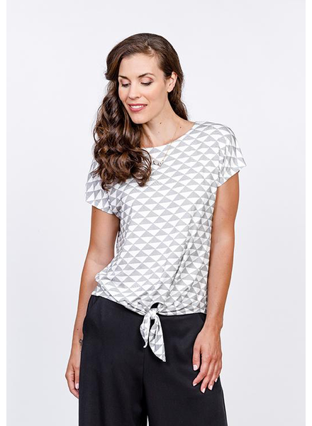 NINETY-EIGHT NINETY-EIGHT BAMBOO TIE TEE TRIANGLES