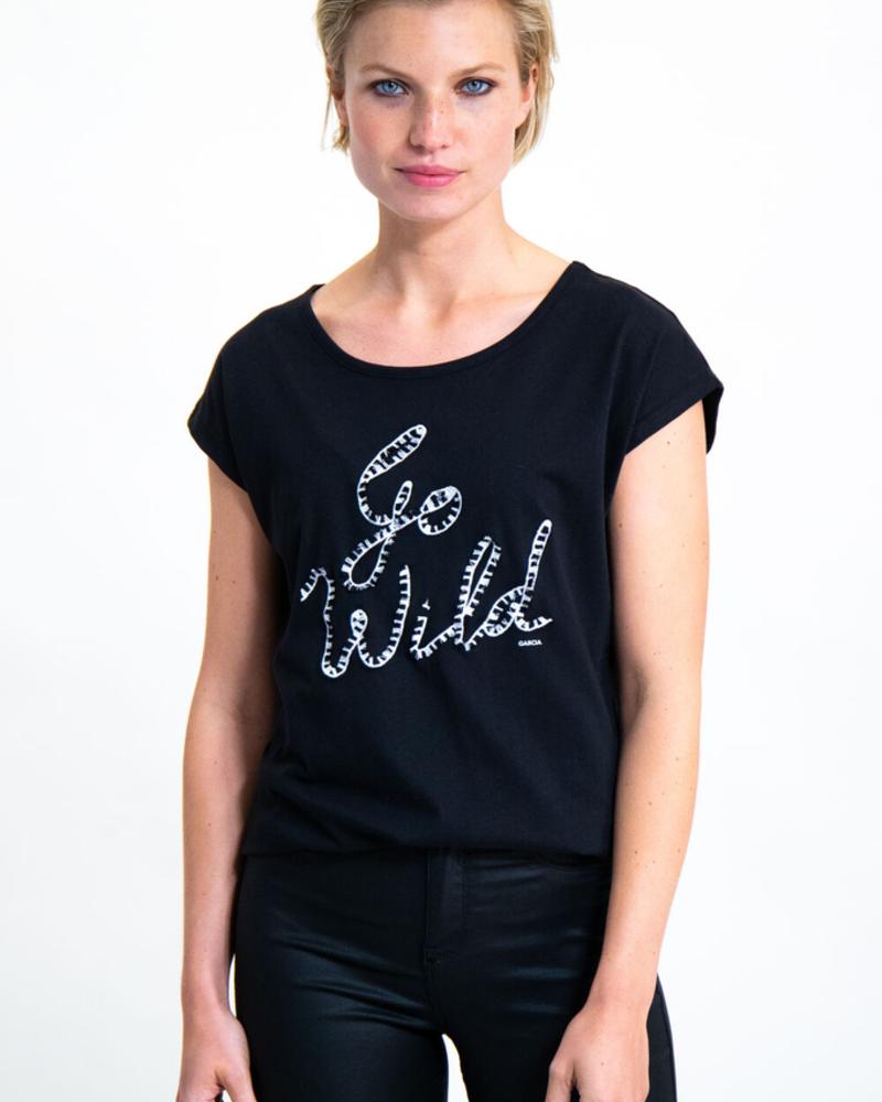 GARCIA GARCIA T-SHIRT NOIR «GO WILD»