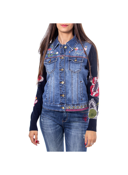 DESIGUAL DESIGUAL JACKET DENIM EXOTIC CLASSIC