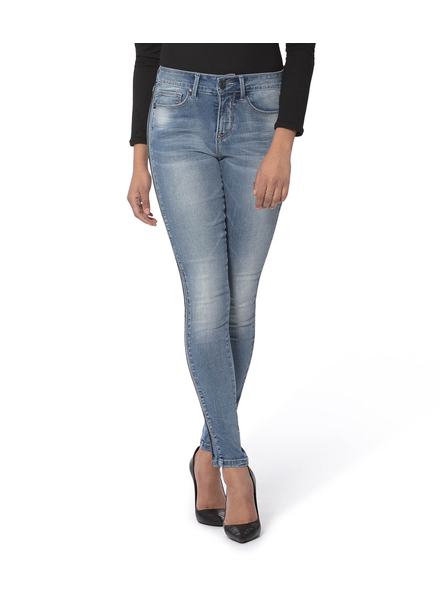 LOLA JEANS LOLA JEANS MID RISE SKINNY JEANS LIGHT BLUE