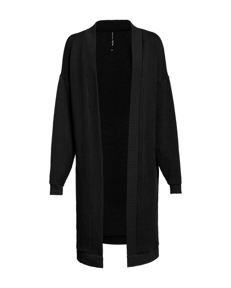 MELOW DESIGN MELOW CARDIGAN LONG ZACHARY NOIR
