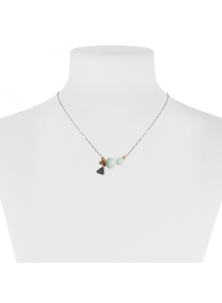 CARACOL CARACOL COLLIER COURT PIERRE TURQUOISE