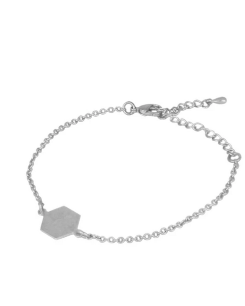 LOST & FAUNE LOST & FAUNE BRACELET HEXAGONE SIMPLE ARGENT
