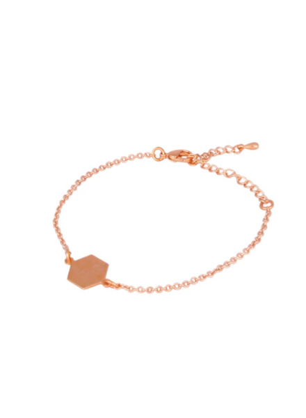 LOST & FAUNE LOST & FAUNE BRACELET HEXAGONE SIMPLE OR ROSE