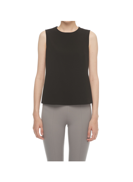 I LOVE TYLER MADISON TYLER MADISON CREPE SLEEVELESS TOP NOIR