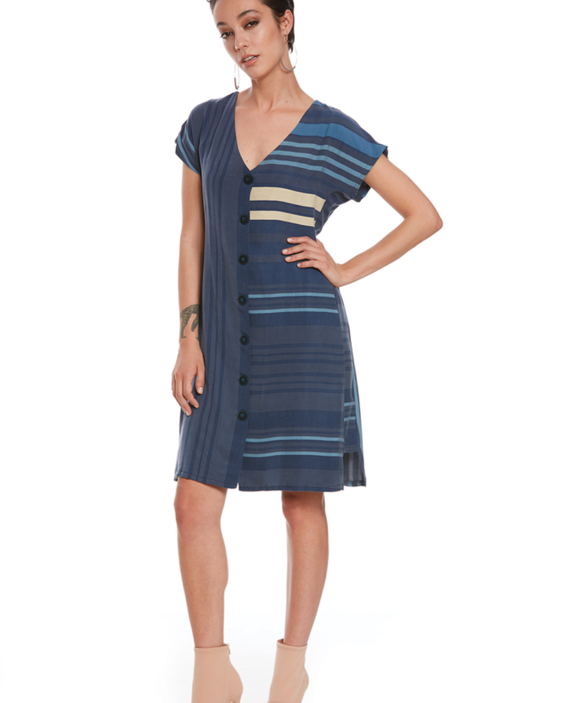 LUC FONTAINE LUC FONTAINE ROBE MOODY BLEU