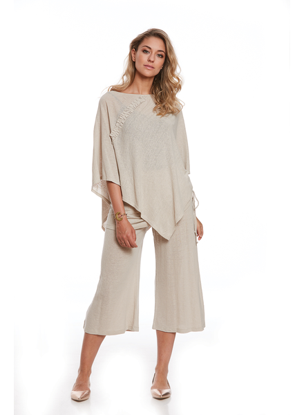 LUC FONTAINE LUC FONTAINE PONCHO NINO VANILLE/BEIGE O/S