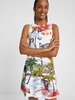 DESIGUAL DESIGUAL ROBE TROPICAL PACIFIC BLANC
