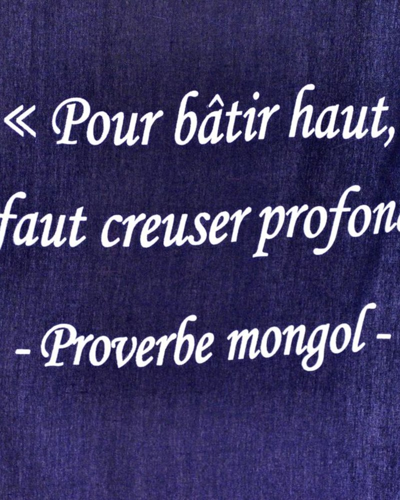 TOILE CITATION MONGOL  #37