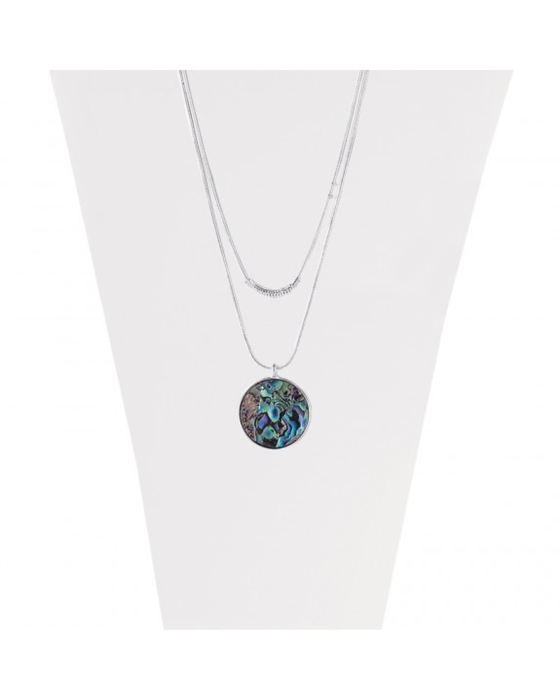 CARACOL CARACOL COLLIER AJUST 2 RANGS COQUILLAGE