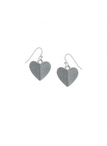 CARACOL CARACOL BOUCLES COEURS GRIS
