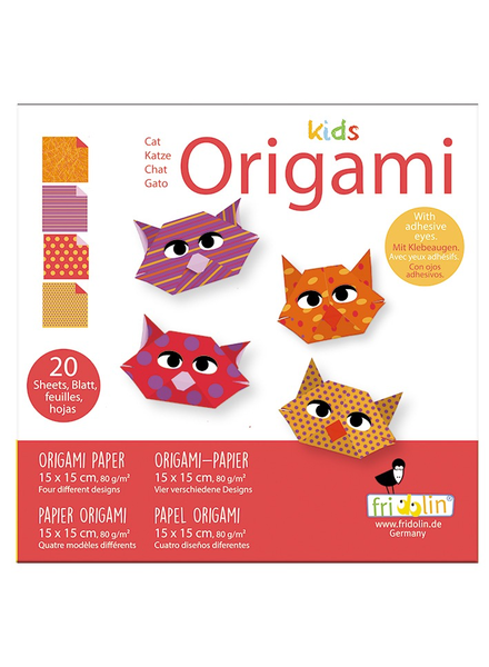 INCOGNITO INCOGNITO 20 FEUILLES PAPIER ORIGAMI CHAT