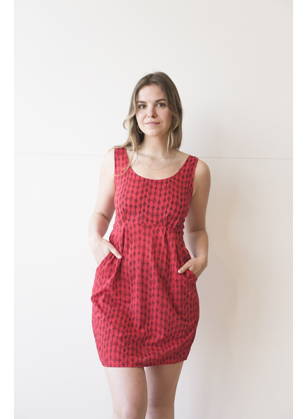 NOMADE SOL ROBE LA MEXICAINE ROUGE