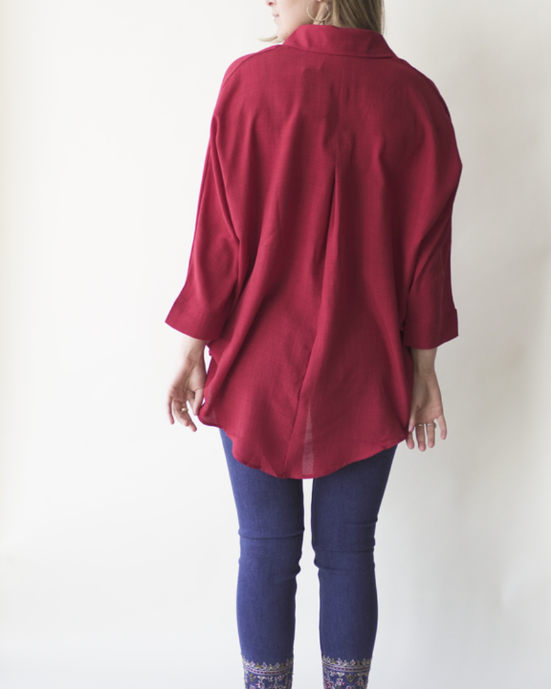 NOMADE AVENTURE BLOUSE L'AMÉRICAINE ROUGE O/S