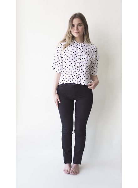 RD INTERNATIONAL RD INTERNATIONAL BLOUSE POLKA DOTS OFF WHITE