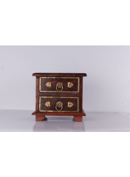 WOODEN BOX 2 DRAWER $ 38