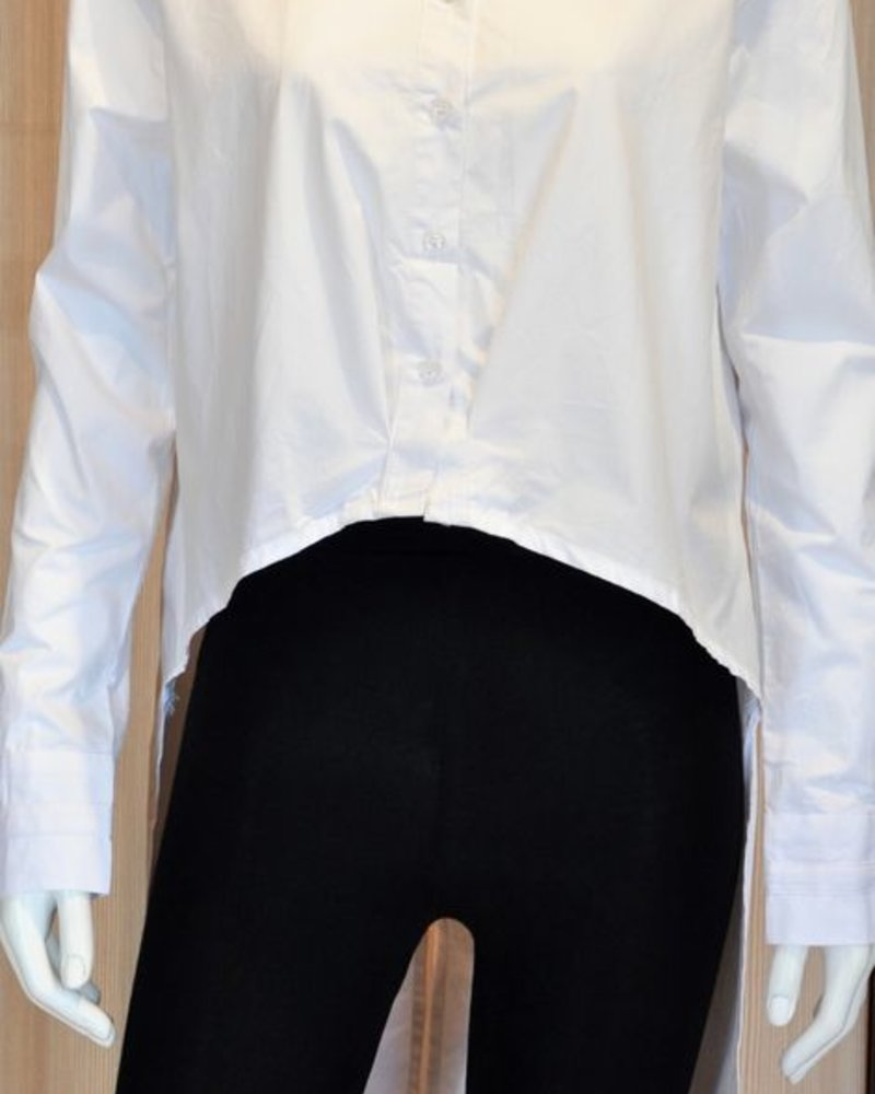LADY LONG BLOUSE ON THE BACK WHITE O / S