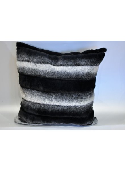BALUCHON BALUCHON FUR CUSHION BLACK / GRAY