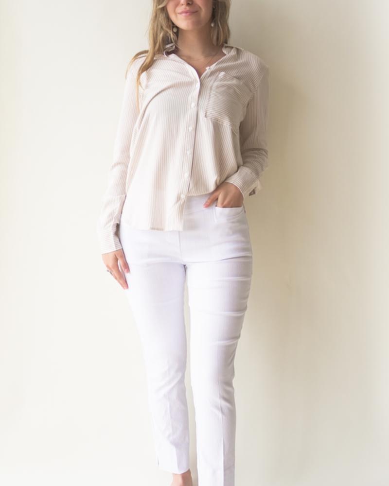 RENUAR RENUAR WOVEN PANT WHITE/BLANC