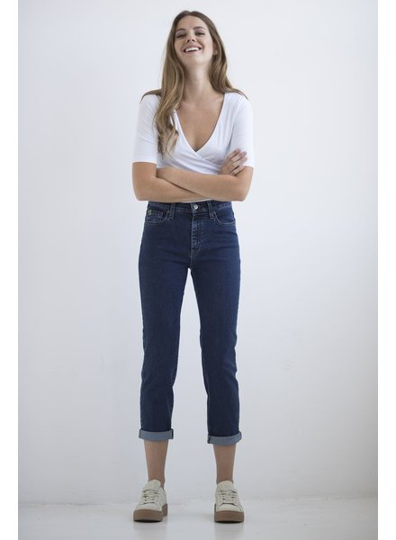 YOGA JEANS JEANS HIGH RISE STRAIGHT CROP NORMANDY / BLUE