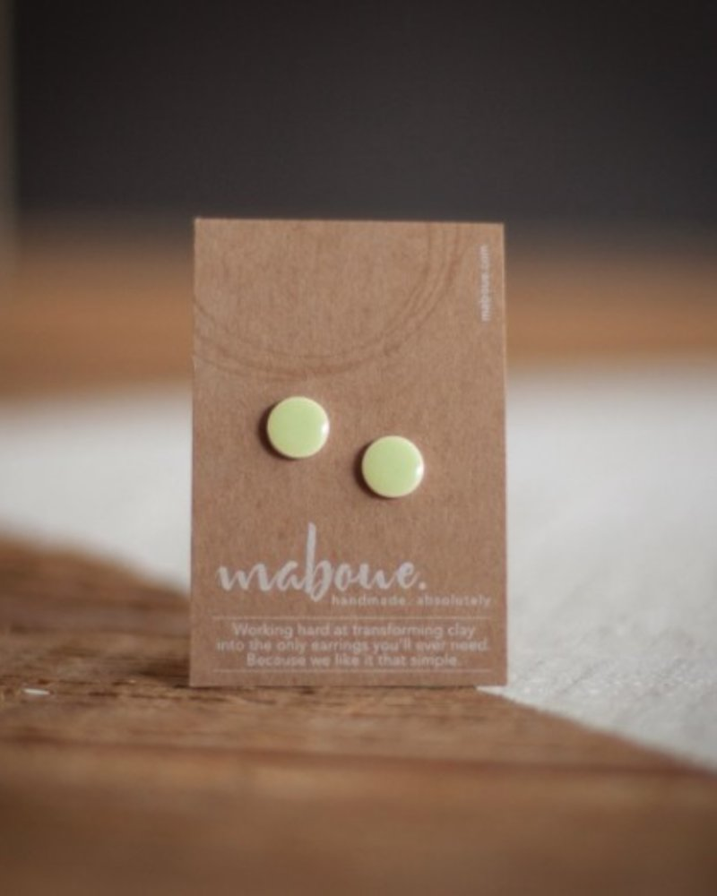 MABOUE MABOUE STUDS VERT TENDRE