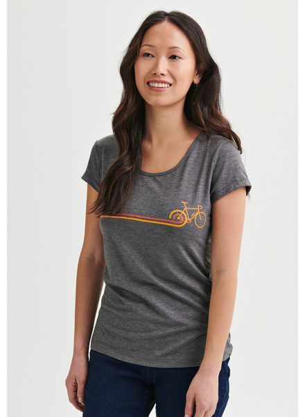 MESSAGE FACTORY MESSAGE FACTORY FEMME T-SHIRT DISCO BIKE CHARCOAL
