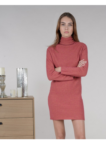 MOLLY BRACKEN MOLLY BRACKEN ROBE COL ROULÉ ROSE