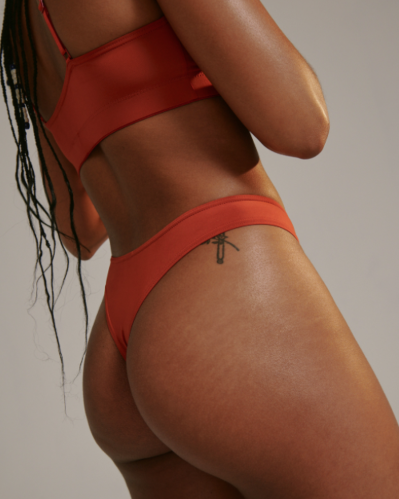 BLUSH BLUSH HIGH WAIST THONG PAPRIKA