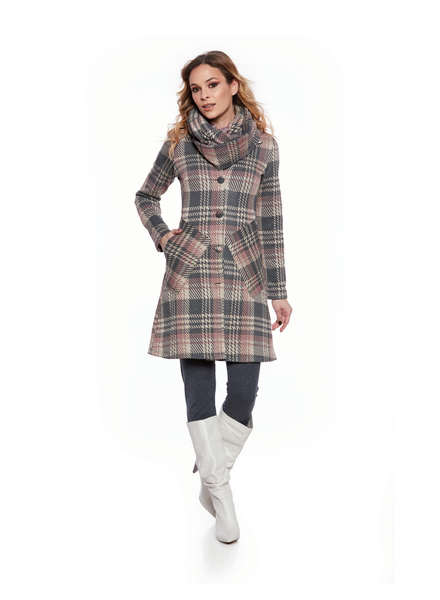 LUC FONTAINE LUC FONTAINE MANTEAU TARTAN ROSE