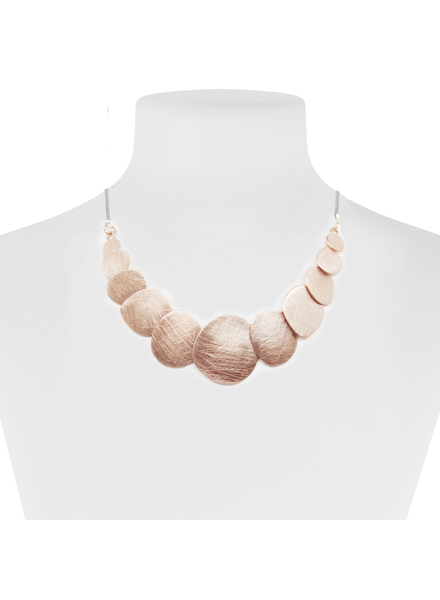 CARACOL CARACOL COLLIER PASTILLES MÉTAL RAY SUPERPOSÉES OR ROSE