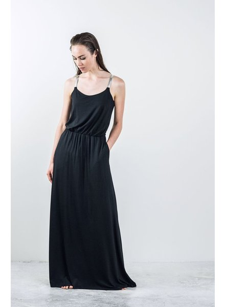 BODY BAG BODYBAG DRESS LONG PRAGUE BLACK