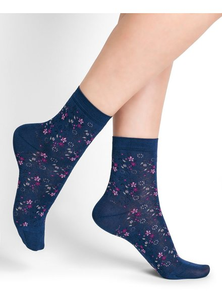 BAS/COLLANT BLEU FORÊT BLUE FOREST SOCKS SOCKS LIBERTY AMIRAL / BLUE