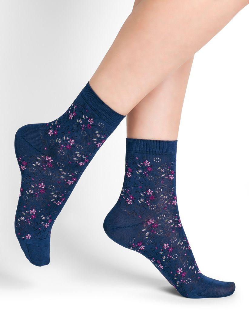 new cheap get online outlet boutique BAS/COLLANT BLEU FORÊT BLUE FOREST SOCKS SOCKS LIBERTY AMIRAL / BLUE