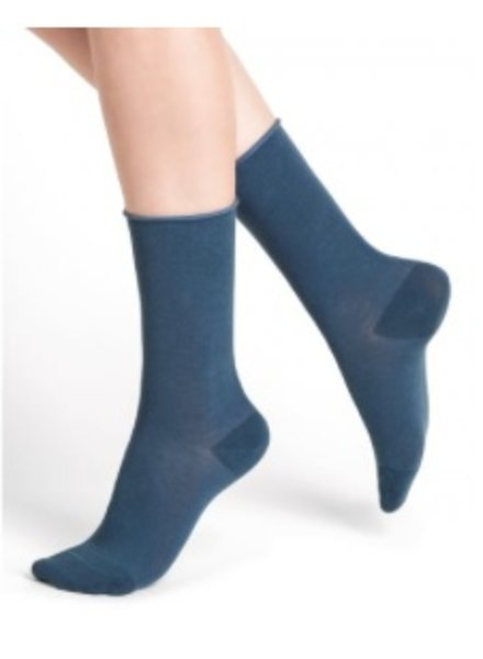 BAS/COLLANT BLEU FORÊT BLUE FOREST VELVET SOCKS BLUE JEANS