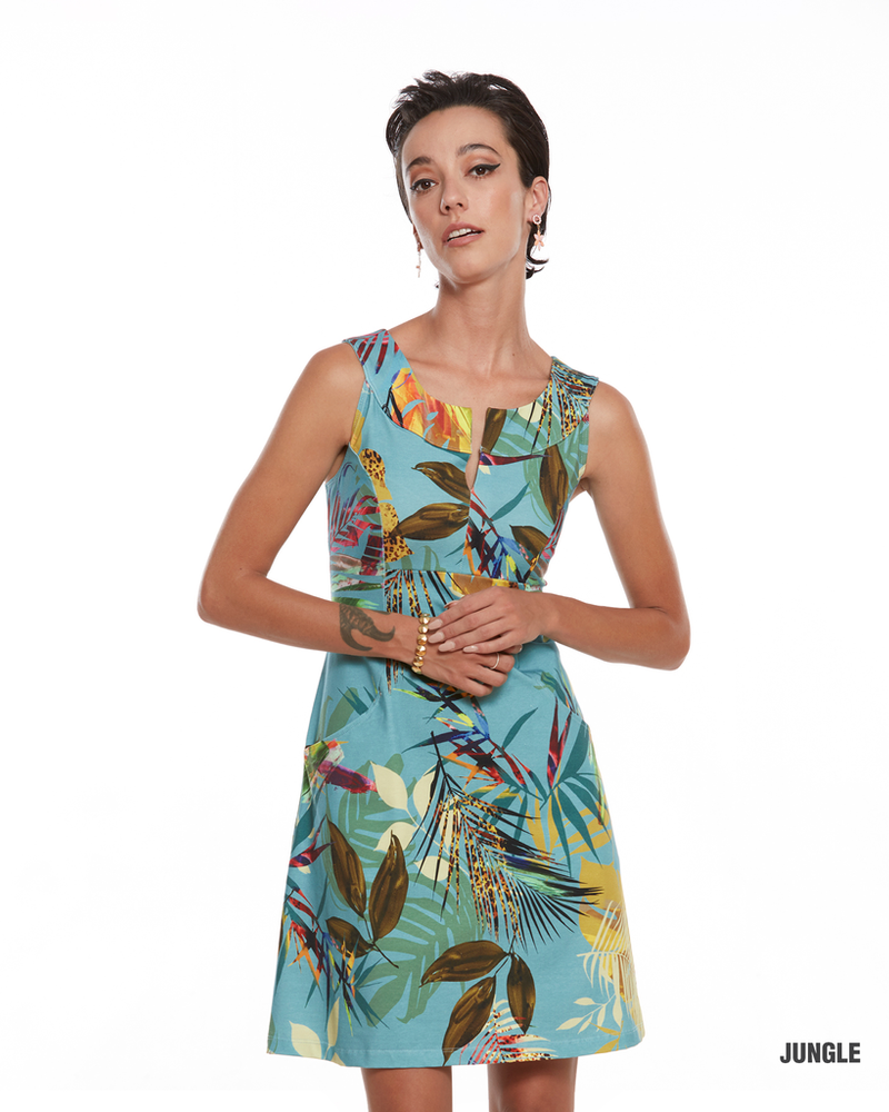LUC FONTAINE LUC FONTAINE ROBE JUNGLE TEAL