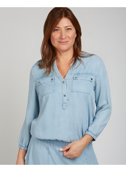 RENUAR RENUAR BLOUSE DENIM BLEU PALE