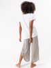 M MADE IN ITALY M MADE IN ITALY T-SHIRT COTON-LIN BLANC