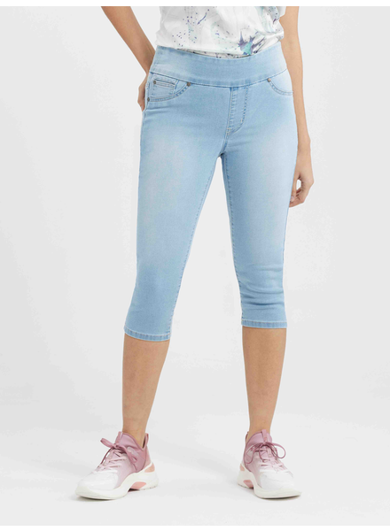 BLACK BULL BLACK BULL ZOE PULL-ON CAPRI TRICOT DENIM BLEU