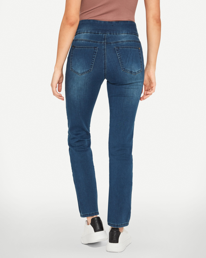 BLACK BULL BLACK BULL ZOE PULL-ON STRAIGHT LEG FIT BLEU