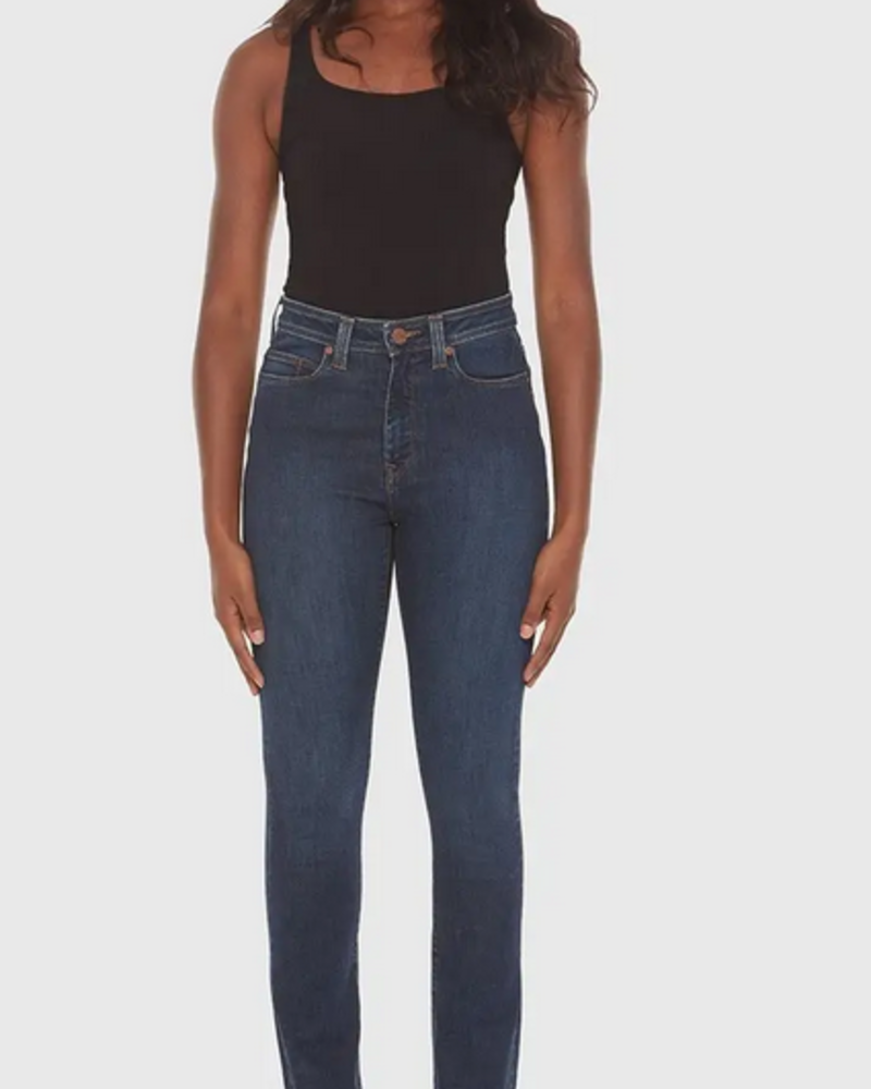 LOLA JEANS LOLA JEANS KATE HIGH RISE STRAIGHT COOL STARRY NIGHT