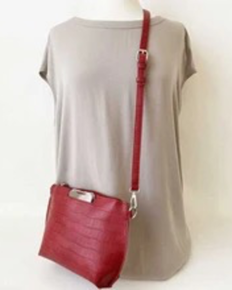 CARACOL CARACOL SAC POCHETTE EXT CELL GANSE AMOVIBLE ROUGE