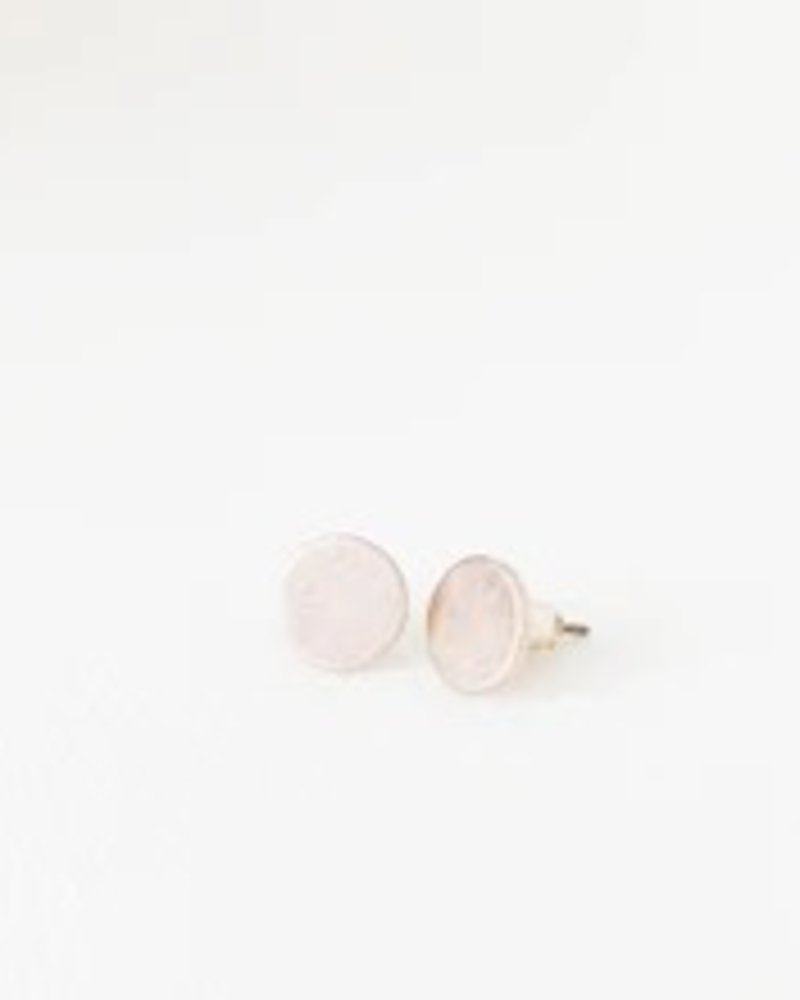 CARACOL CARACOL B. OREILLE PASTILLE RONDE TEXTURE USE TIGE ROSE GOLD