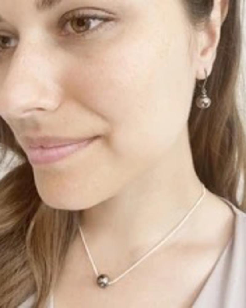 CARACOL CARACOL COLLIER PETITE SPHERE METALLIQUE  ROSE GOLD